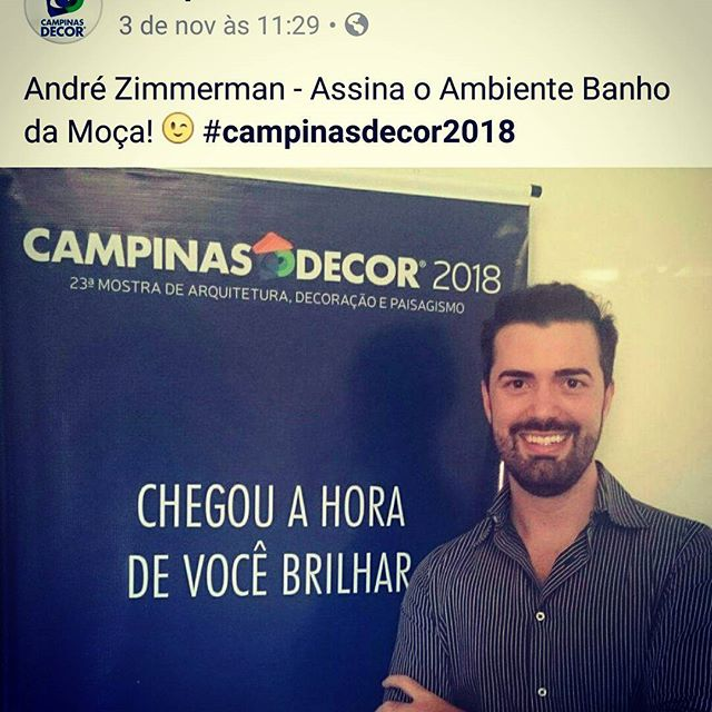 Designer de Interiores André Zimmerman no Campinas Decor 2018
